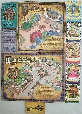 WALT DISNEY WORLD Sorcerers Magic Kingdom Map & 5 Cards #12, #16 ...