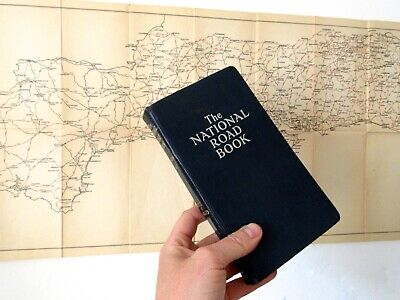 The National Road Book with Canvas Map of South England - First Edition 1936