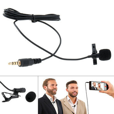 3.5mm Jack Clip On Lapel Wired Condenser Mini Lavalier Wired Mic Microphone Hot