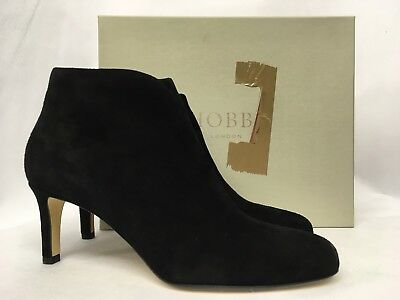 Hobbs Lizzie Fine Suede Black Ankle Boots. Various Sizes. RRP £189.