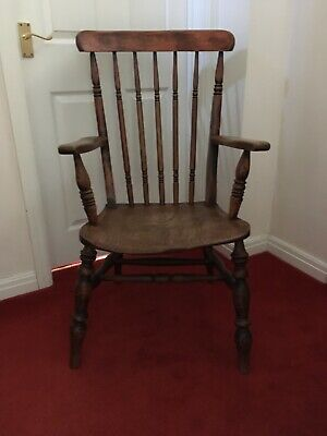 Antique Windsor Grandfather Fireside Carver Chair