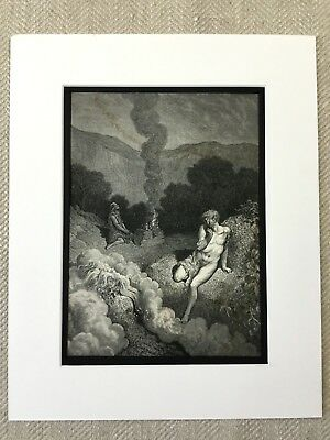 Cain and Able Sacrifice Bible Story Victorian Engraving Antique Print