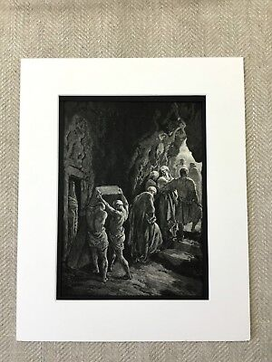The Burial of Sarah Bible Story Art Victorian Engraving Antique Print