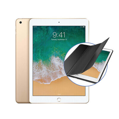 """Apple ipad 9.7"""" (2018) 32Go Wifi avec Stand Housse Support Coque - Or"""