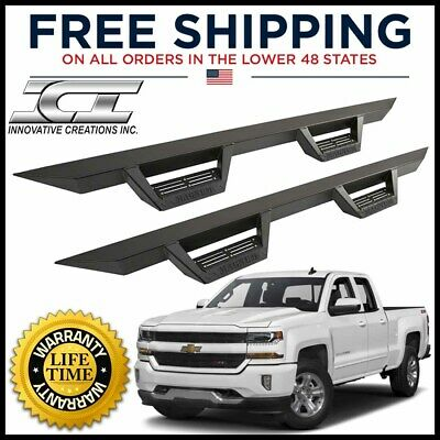 Magnum RT Black Step Bar 2019 Chevy Silverado GMC Sierra 1500 Double Cab RTS27CH