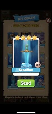 Coin Master Excalibur Card - Send Fast