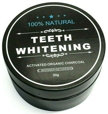 100% Organic Coconut Activated Charcoal Natural Teeth Whitening Powder**Sale**