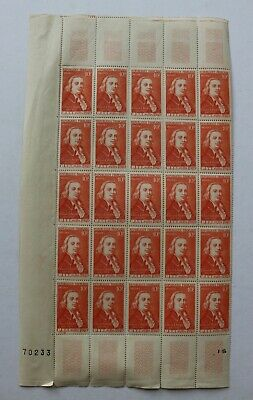 FEUILLE  timbres X 25 TIMBRES NEUFS** 1949 Claude Chappe