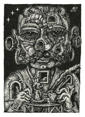 David Welker The Good Listener Art Print Poster Signed #/100 Sold out mint cond.