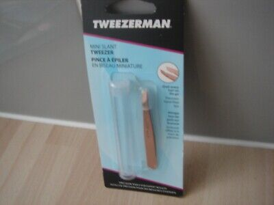 tweezerman tweezers MINI SLANT ROSE GOLD  tweezers