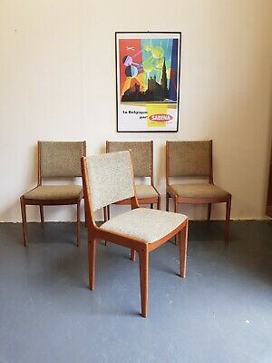 Danish Mid Century Vintage Solid Teak Chairs Johannes Anderson - Delivery