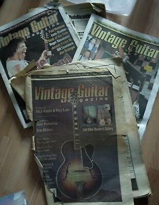 Mixed lot 4 Vintage guitar magazines/papers 1990's