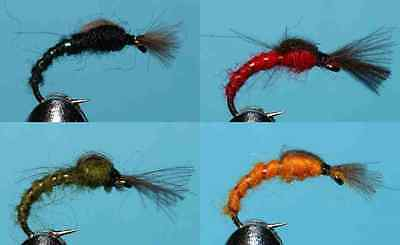 20 Ribflash Buzzer Selection 042 HAND TIED FLIES TROUT FISHING FLY