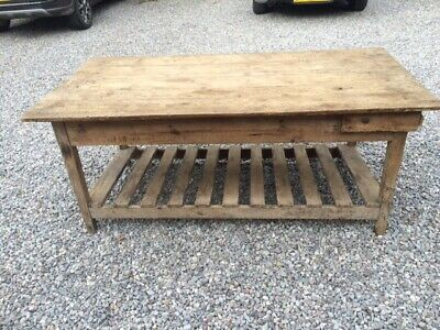 Antique  Pine Work Table / Shop Fitting Table / Industrial Table