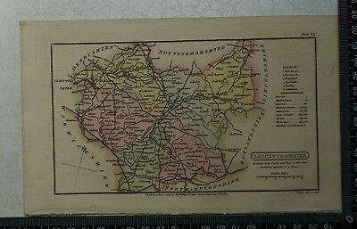 1808 Antique Original Hand Coloured Capper Map of Leicestershire