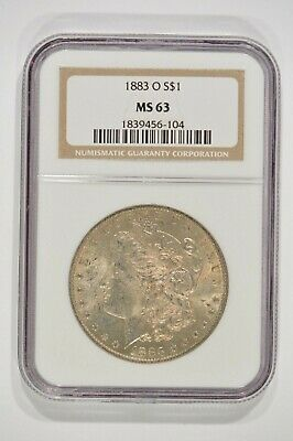 1883-O Morgan Silver Dollar $1 NGC MS63 1839456-104