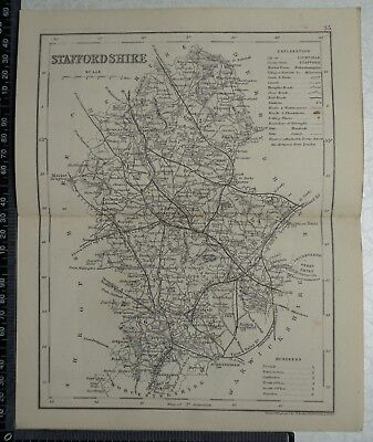 1846 Archer / Dugdale Map of Staffordshire