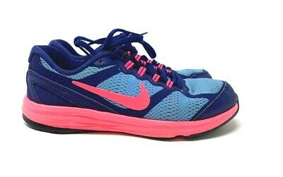 64682bd21286d NIKE Dual Fusion Run 3 Royal Blue Pink Girl s Running Shoes Youth Size 13 C