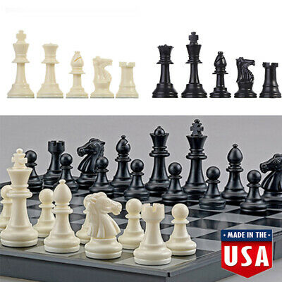 for Staunton Triple Weighted Chess Pieces – Full Set 32 Black & White 64mm