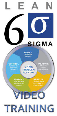 Complete Lean Six Sigma DMAIC Video Training Series DVD - Beginner to Advanced