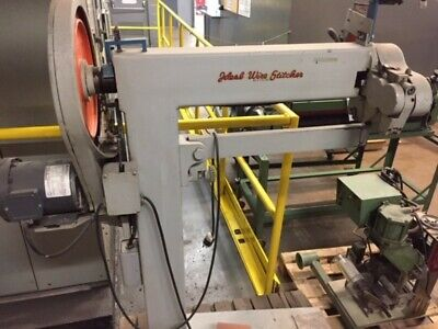 Ideal Industrial Arm Box Stitcher Model ISF-2540 Good Condition