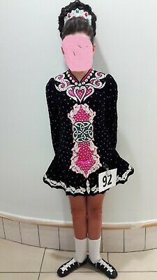 stunning Irish dance solo dress and accessories incl new headpiece