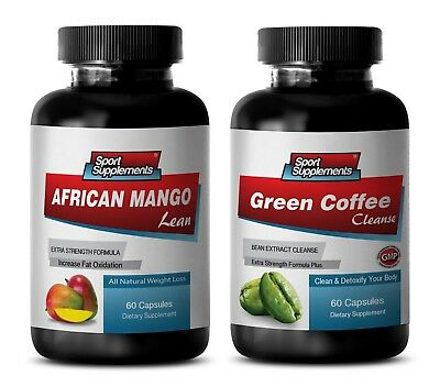 energy supplement capsules - AFRICAN MANGO – GREEN COFFEE CLEANSE COMBO 2B - gre