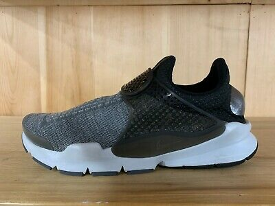 official photos 19bf3 bc7da Nike Sock Dart Se Premium Dark Grey Black Platinum Running Mens Sz 11 859553 -002