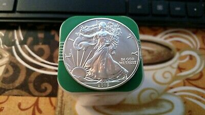 2015 Roll of 20 American Silver Eagle ($1) BU -  1 Oz. Coins in Mint Tube