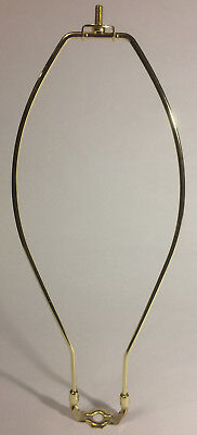 """13"""" Brass Plated Lamp Harp w/ Base Protective Coating, regular weight  #HAR65"""