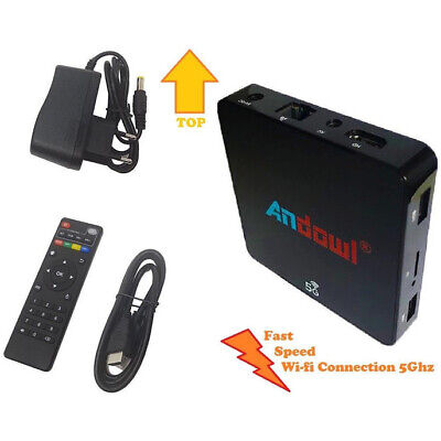 Smart Tv Box Android 8.1 4K 4Gb Ram 32Gb Rom Iptv 5G Andowl Q-M6 Dual Band Kodi