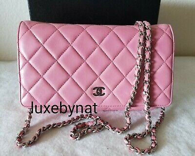 8116e40510b3 AUTH CHANEL WOC crossbody pink silver hardware bag - $1,249.00 ...