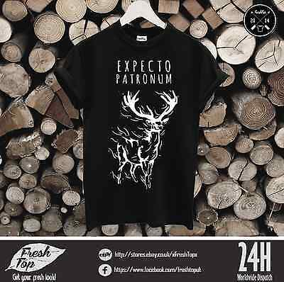 7bf1d736e Expecto Patronum Deer T Shirt Dementors Harry Potter Lord Voldemort Ron  Hermione