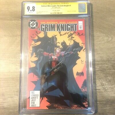 DC Batman Who Laughs Grim Knight 1 Tan Signed Variant CGC 9.8 McFarlane 423