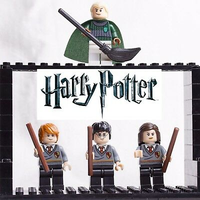 Lego Minifigures Harry Potter Saga Serie Custom Like Set 4 Minifig Minifigure