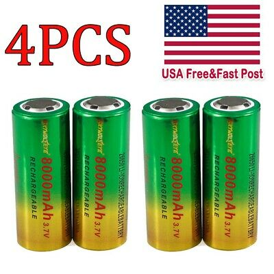 Rechargeable 8000mAh 26650 Battery 3.7V Li-ion Battery For Flashlight Torch Lamp