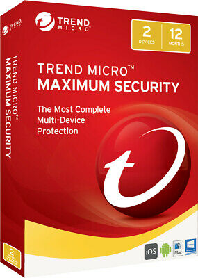 Trend Micro Maximum Security 2020 2 Devices Windows Mac Android Software Key