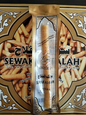 1pc Natural Herbal Toothbrush Vacum Sealed Sewak Siwak Meswak Arak Peel Miswa
