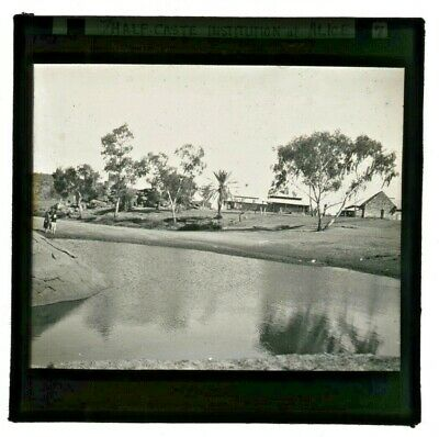 "1920's B/w Glass Lantern Slide ""half-Caste Abor Institution Alice Springs  Nt A1"