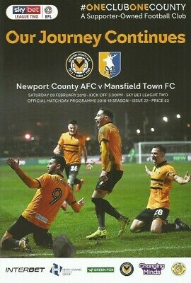 NEWPORT COUNTY AFC v MANSFIELD TOWN      2018/19
