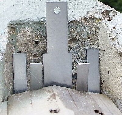 """10 Anti Rattling Fence Panel Clips Wind Gale For both 4"""" & 5"""" Concrete Posts"""