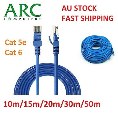 Cat6/Cat 5e Patch Lead 10m/15m/20m/30m/50m Ethernet Data Network Cable Cord
