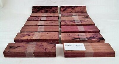 Purple Heart Wood Scales for Knife Making, Handles, Woodworking, Bushcrafting