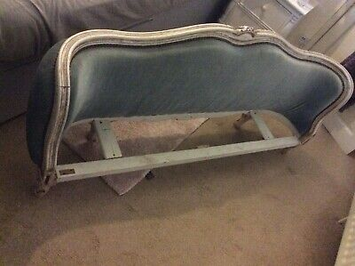 French Bed Footer Section/  Seat Project, French Duck Eg Blue