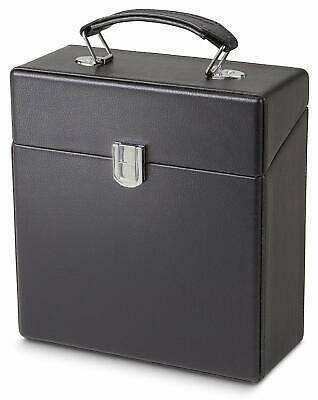 Crosley 45 RPM Heavy-Duty Record Vinyl Storage and Carrier Case – Black