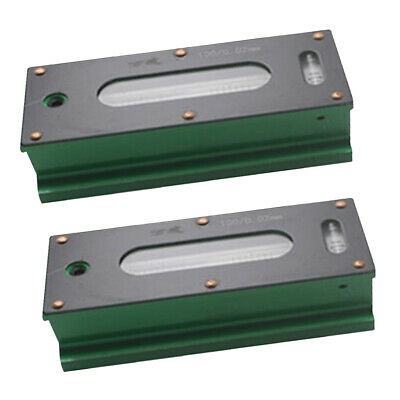 2x Heavy Duty Precision Bar Level Tool with Case 0.02mm Fine Finishing 100mm