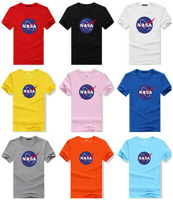 ca9403d25c71 NASA T Shirt Mars Space Astronaut Geek Nerd Star Logo Men's Women's T-shirt  Tee