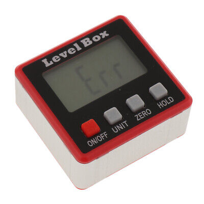 Digital LCD Protractor Angle Finder Bevel Level Box Inclinometer Meter