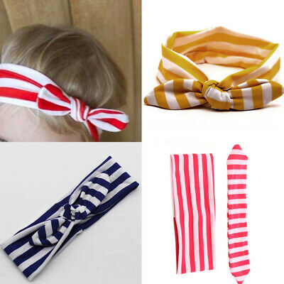 Baby Toddler Girls Bunny Rabbit Bow Knot Turban Headband Hair Band Headwrap Cute