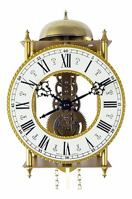 mechanicle regulator wall clock 8 day  bell strike on the houre
